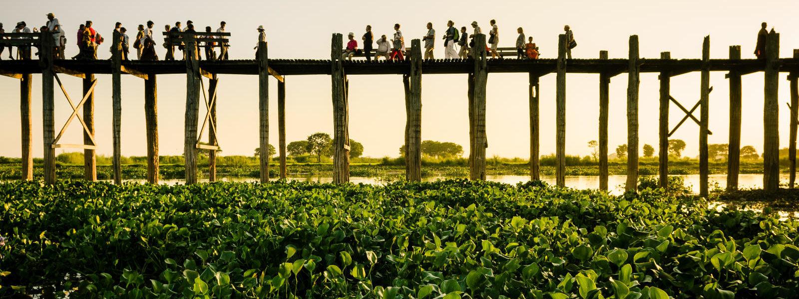 Myanmar Crown Tour - U Bein Bridge - Amarapura - Sampan Travel