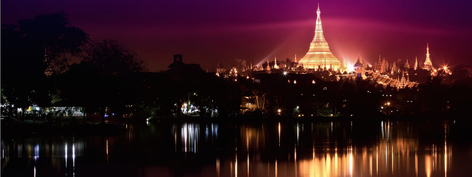 Destinations - Shwedagon Pagoda at night - Yangon - Sampan Travel