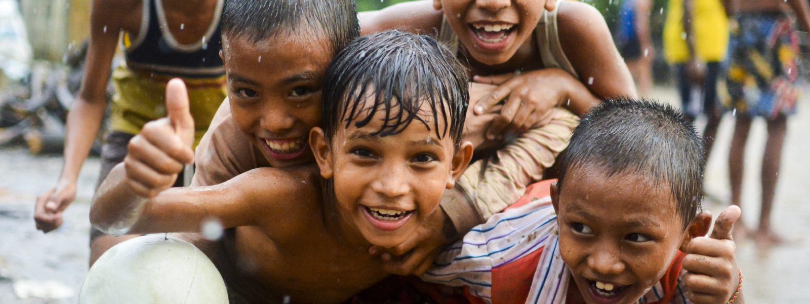 Down to Dawei - boys in Yangon - Myanmar - Sampan Travel