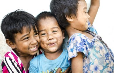 Myanmar Whistle-stop - children smiling - Myanmar - Sampan Travel