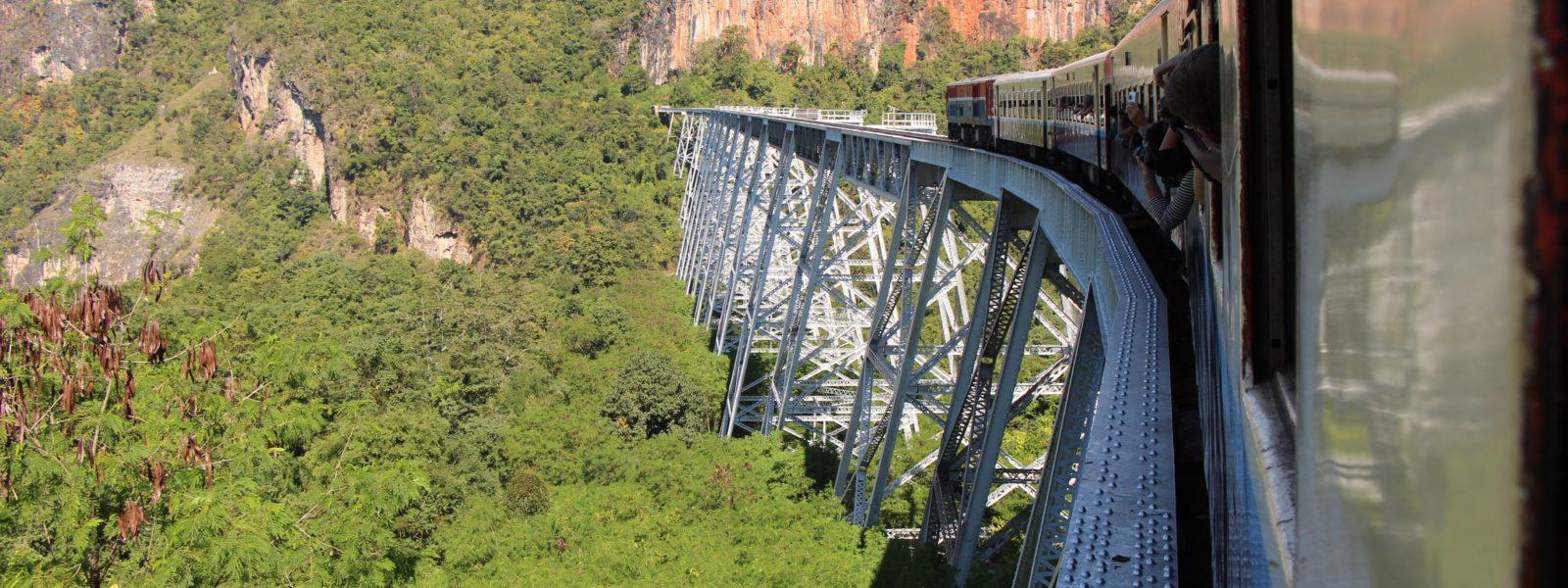 Pyin Oo Lwin - train over Gokteik Viaduct - Shan State - Sampan Travel