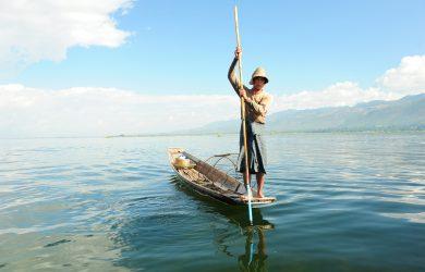 Aung Ko Ko - fisherman on the lake - Inle Lake - Sampan Travel
