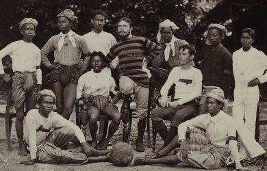 Brits in Burma - Sir George Scott and his football team - Rangoon, Burma - Sampan Travel