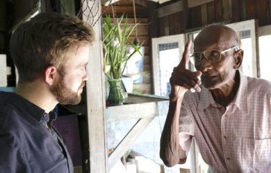 David Daniels - speaking to Alex Bescoby - Myanmar - Sampan Travel