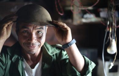 Introducing Forgotten Allies - Man in helmet - Chin State, Myanmar - Sampan Travel