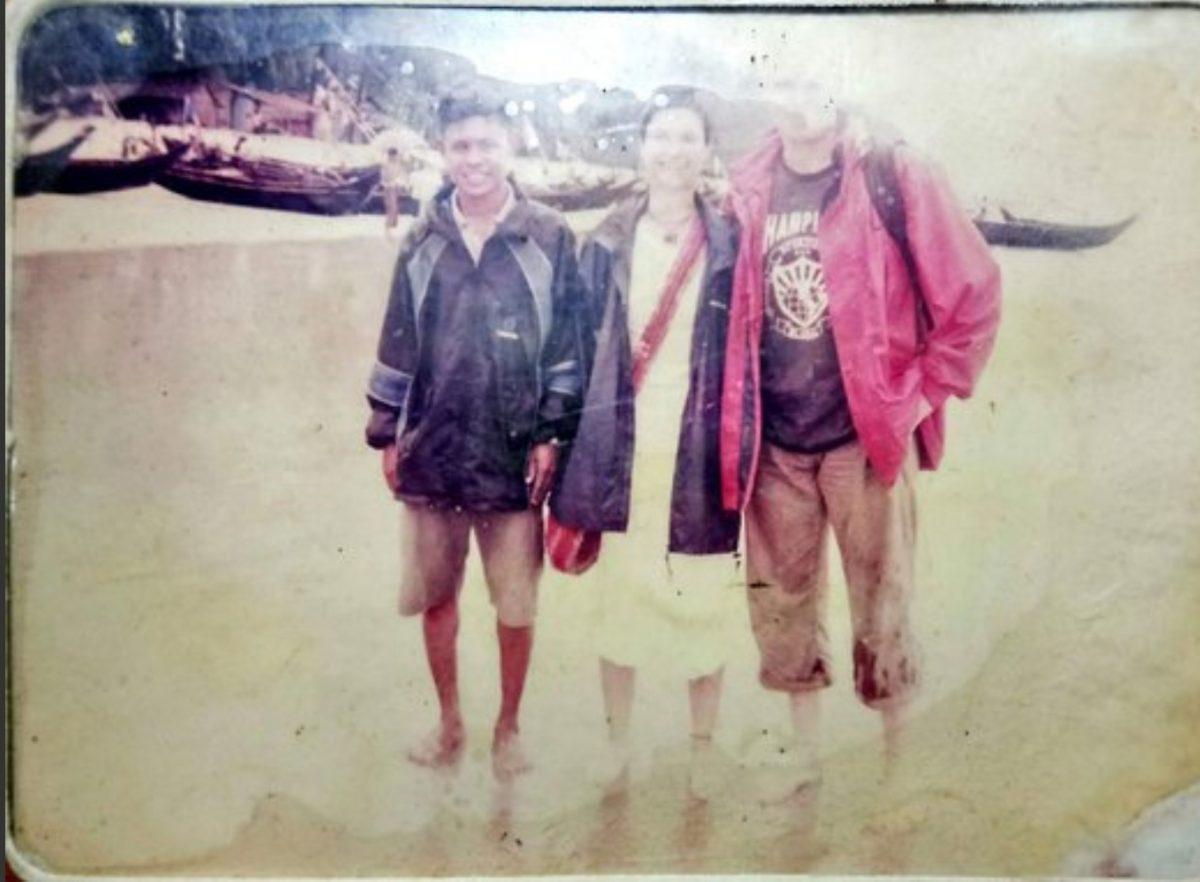 Sam the Man - Anja and Sven with Sam the Man - Dawei - Sampan Travel