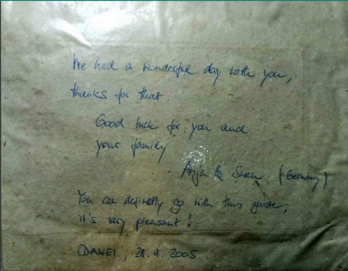Sam the Man - Letter from Anja and Sven - Sampan Travel