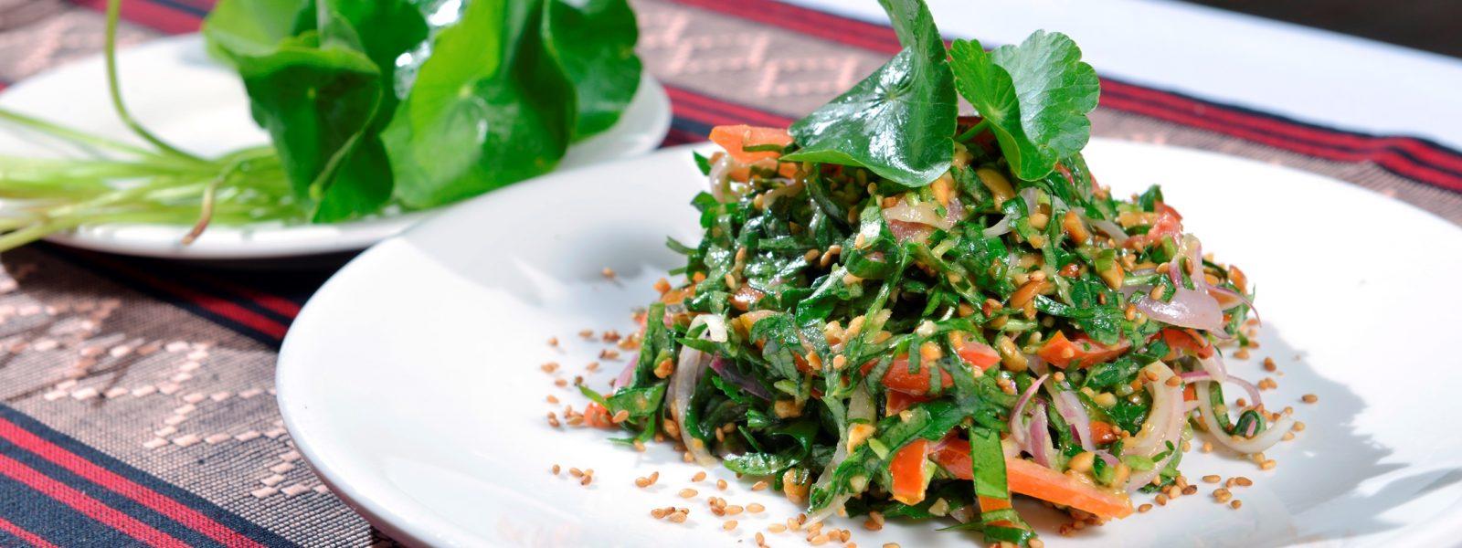 Sanon - Pennywort Salad - Bagan- Sampan Travel