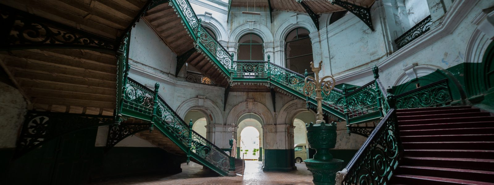 The Secretariat - South Wing Staircase - Yangon - Sampan Travel